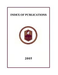 walter reed army institute of research index to publications 2005