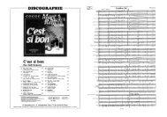Page 1 DISCOGRAPHIE C'est si bon Marc Reift Orchestra El Sing ...