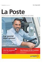 «La Poste» - journal du personnel - La Poste Suisse