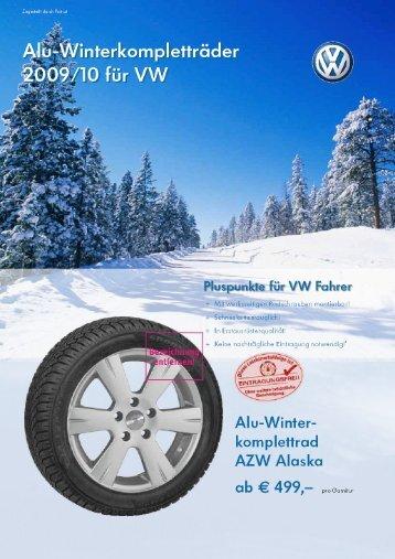 Angebote für Winterkompletträder VW