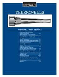 TMS-THERMOWELLS CAT. - Temperature Measurement Systems