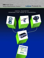 TMS 9000 Series Torque Measurement System - Intertechnology Inc.