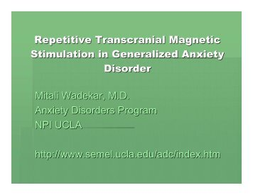 Repetitive Transcranial Magnetic Stimulation In ... - UCLA CTSI