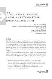 ULUSLARARASI F‹NANSAL RAPORLAMA STANDARTLARI (UFRS ...