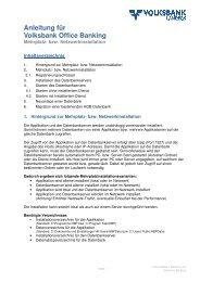 Anleitung für Volksbank Office Banking bank ... - Volksbank Landeck