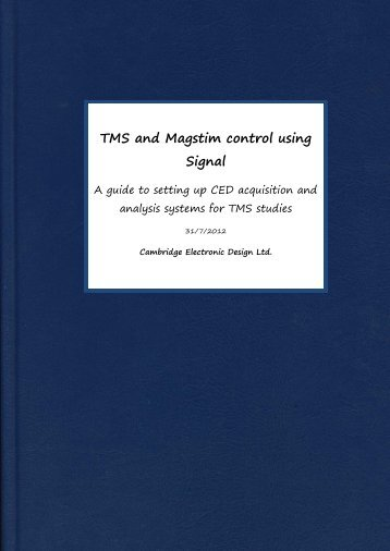 TMS and Magstim control using Signal - Cambridge Electronic Design