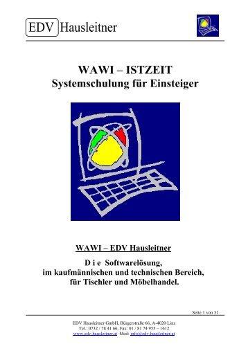 WAWI - Istzeit - EDV-Hausleitner