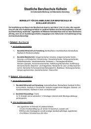 Staatliche Berufsschule Kelheim