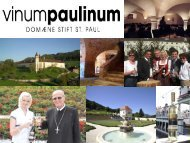 Eine Weinverkostung der Weine vom ... - Stift St. Paul im Lavanttal