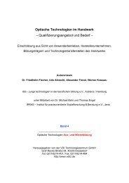 Optische Technologien im Handwerk - bayern photonics eV