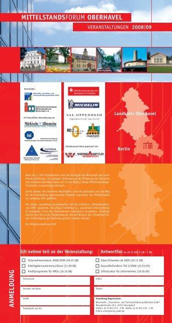 Flyer - Mittelstandsforum Oberhavel als Download