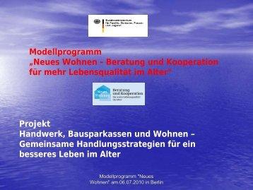 Vortrag Netz Handwerk 01 (pdf) - Neues Wohnen