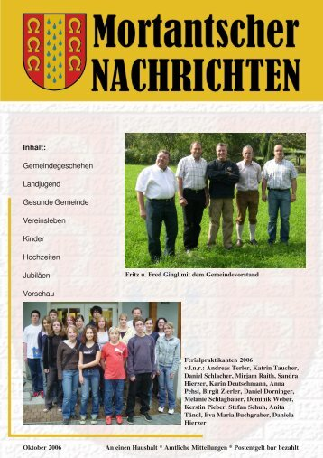 Nachrichten 11 Nachrichten - Mortantsch