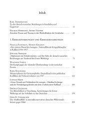 Inhaltsverzeichnis - Wilhelm Fink Verlag