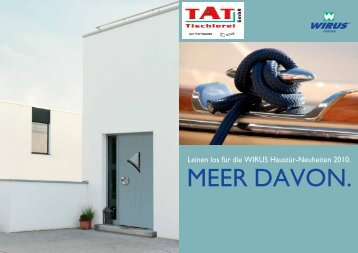Neuheiten 2010 Wirus Haustüren von TAT Tischlerei GmbH