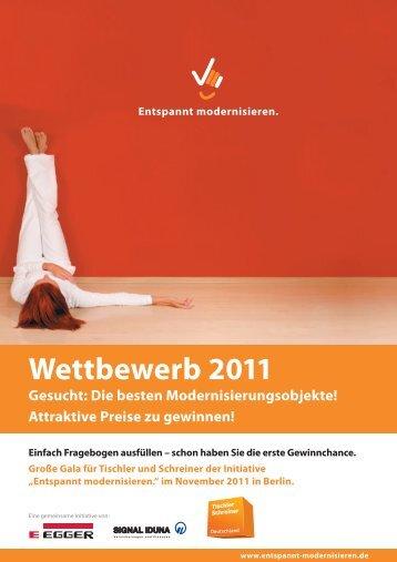Wettbewerb 2011 - Entspannt modernisieren