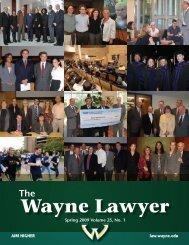 Wayne Lawyer - Wayne State University Law School