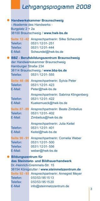 neue Lehrgangsprogramm - Handwerkskammer Braunschweig