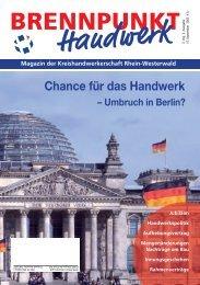 Umbruch in Berlin? - Kreishandwerkerschaft Rhein-Westerwald