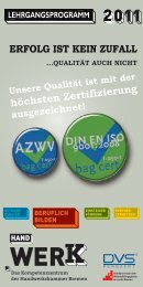 qualität auch nicht - Handwerkskammer Bremen