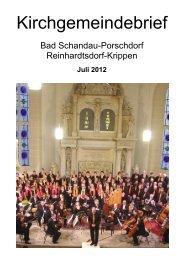 Kirchgemeindebrief Juli 2012 - Evangelisch-Lutherische Kirche Bad ...