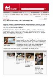 TEST DRUCKLUFTFRÄSE LAMELLÜ PRÜFILA PLUS - Lamello