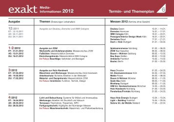 Termin- und Themenplan - Holz-Zentralblatt