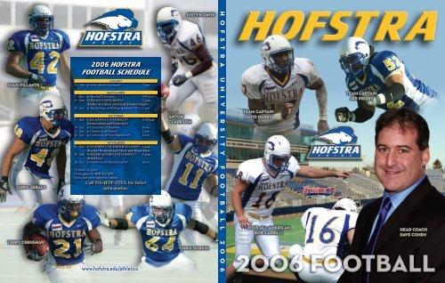 2006 HOFSTRA FOOTBALL SCHEDULE     - Hofstra University