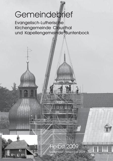 September bis November 2009 - Marktkirchengemeinde Clausthal
