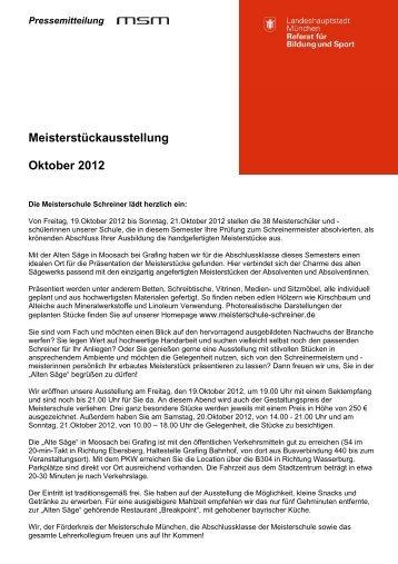 Meisterstückausstellung Oktober 2012 - Meisterschule Schreiner ...