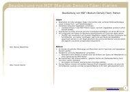 Bearbeitung von MDF (Medium Density Fiber) Platten - Mirko Junge ...