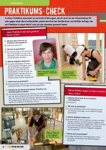 Praktikums-Check - Planet Beruf.de