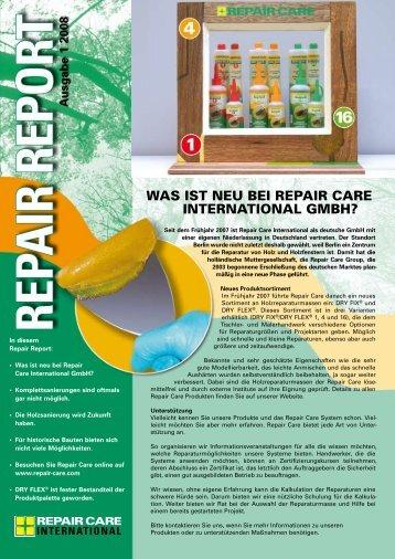 Repair Report Ausgabe 1 - 2008 - Repair Care