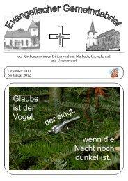 Ausgabe Dezember 2011-Januar 2012 - Ev. Pfarramt Ditterswind