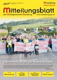 Ausgabe Nummer 217, Oktober 2012 - Marktgemeinde Moosburg