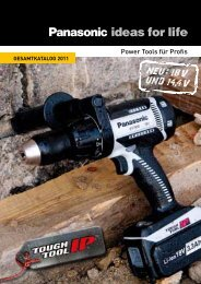 Panasonic Power Tools GESAMTKATALOG 2011 - GeZet ...