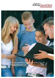 Tätigkeitsbericht 2010 - RheinEnergie Stiftung