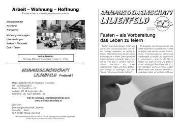 Rundbrief 1/2009 - Emmaus Lilienfeld