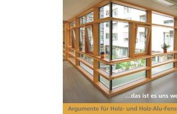 ProHolzfenster Broschüre - Tischlerei Schmedeke Hameln