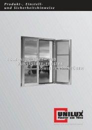 Einstellhinweise für Unilux-Fenster - TAT-Tischlerei GmbH
