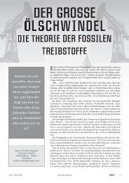 DIE THEORIE DER FOSSILEN TREIBSTOFFE - Ummafrapp