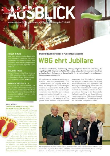 Die WBG aktuell 3/2012 - WBG-Laatzen