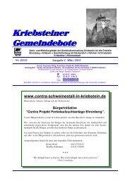 Gemeindebote Ausgabe 1. März 2012 - Gemeinde Kriebstein