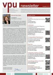 VPU-Newsletter 1. Quartal 2012