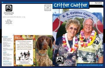 Critter Chatter Fall 2010 - Yavapai Humane Society