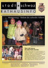 Martiniumzug - Vorbote des nahenden Advents - Schwaz