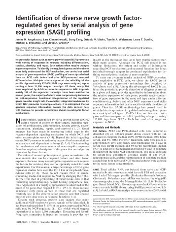 regulated genes by serial analysis of gene expression (SAGE ...