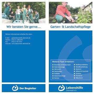 Wir beraten Sie gerne... Garten- & Landschaftspflege