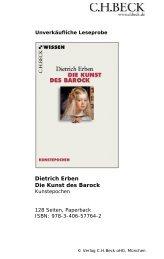 Dietrich Erben Die Kunst des Barock - C.H. Beck