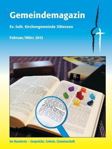 Ausgabe Februar / März 2012 - Ev.-luth. Kirchengemeinde Sittensen